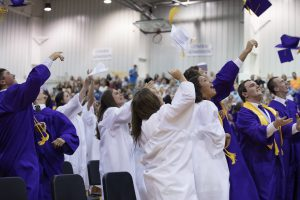 Graduation Hat Throwing